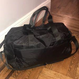 Black Nylon Duffle Bag by EQUINOX